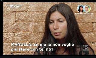 """Manuela e Stefano sempre più lontani a Temptation Island 2021: """"Lui vuole stare con Cicciolina"""""""