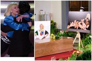 """Fiorello ha parlato con Raffaella Carrà davanti alla sua bara: """"Eccola, eccola la Regina"""""""