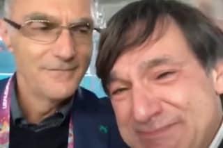 Le lacrime di Fabio Caressa e Beppe Bergomi, unici ad aver commentato un Mondiale e un Europeo vinto