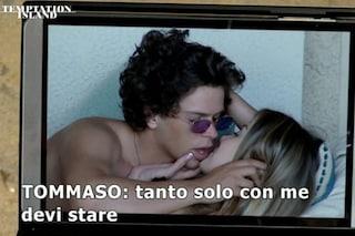 """Temptation Island, Tommaso a Giulia: """"Se ti rifai il seno non ti faccio uscire, devi stare con me"""""""