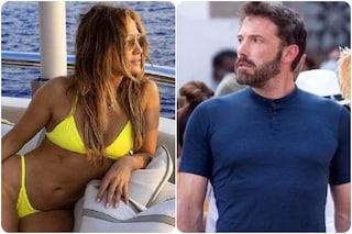 Jennifer Lopez nei video dei fan a Portofino: l'addio all'equipaggio e il ritorno da Ben Affleck
