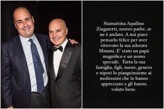 """È morto il padre di Nicola e Luca Zingaretti, l'attore: """"Un uomo speciale, un padre magnifico"""""""