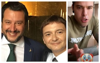 """Luca Morisi indagato per droga, Fedez attacca Matteo Salvini: """"Pagliaccio, prestategli un naso"""""""