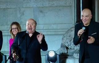 """Lino Banfi show al Premio San Gennaro: """"Gridare insieme Porca Puttena è liberatorio"""""""