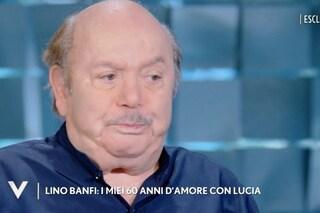 """Lino Banfi si commuove per la moglie Lucia: """"Mi ha chiesto di trovare il modo di morire insieme"""""""
