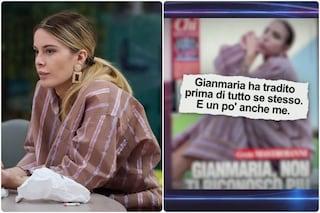 """La fidanzata di Gianmaria e il pigiama-gate al GF Vip, Sophie: """"L'ho riconosciuto, ero pietrificata"""""""
