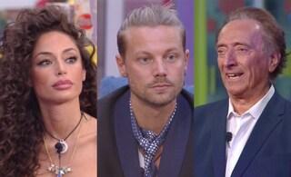 Al GF Vip Raffaella Fico, Davide Silvestri e Amedeo Goria in nomination