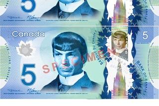 Una banconota da 5 dollari per Spock, l'omaggio dei fan canadesi