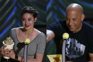 "MTV Movie Awards 2015: trionfa ""Colpa delle stelle"", Vin Diesel ricorda Paul Walker"