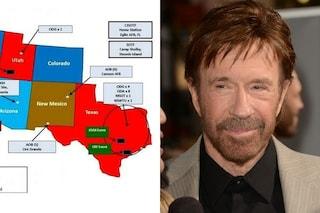 """Chuck Norris shock: """"Gli Stati Uniti provano a distruggere la libertà del Texas"""""""