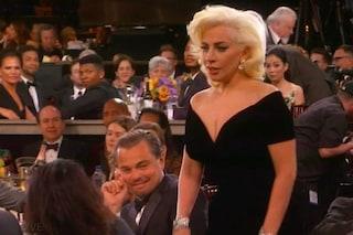 """Leonardo DiCaprio sulla gomitata di Lady Gaga: """"Ne abbiamo parlato e ci abbiamo riso su"""""""