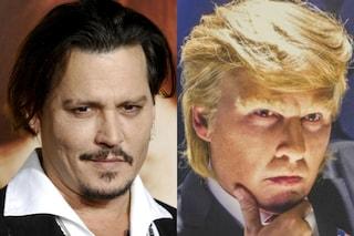 Johnny Depp irriconoscibile nel film parodia su Donald Trump