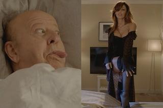 """Lo spogliarello di Anna Tatangelo per il trailer di """"Natale al Sud"""" infiamma Massimo Boldi"""