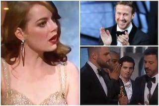 Oscar 2017, le impagabili reazioni delle star di La La Land quando scoprono di non aver vinto