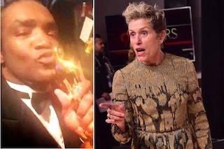 Ruba l'Oscar di Frances McDormand e lo mostra in un video, arrestato poco dopo