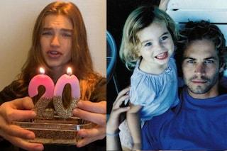 La figlia di Paul Walker festeggia il ventesimo compleanno a 5 anni dalla morte del padre