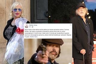 """Ilona Staller Cicciolina piange Tomas Milian: """"Triste per la tua morte"""", solo che è morto 2 anni fa"""