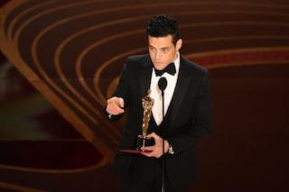 """Rami Malek vince l'Oscar 2019: """"Film su omosessuale immigrato, vogliamo storie come questa"""""""