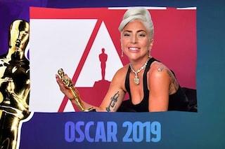 """Lady Gaga trionfa agli Oscar 2019 con """"Shallow"""", premiata come Migliore canzone"""