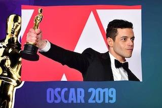 "Oscar 2019 a Rami Malek come miglior attore protagonista in ""Bohemian Rhapsody"""