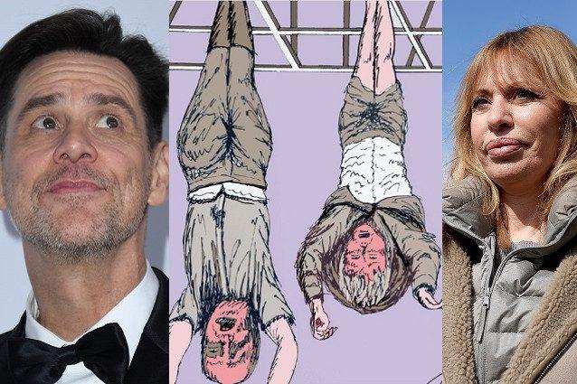 Jim Carrey-Alessandra Mussolini, lite su Twitter per la vignetta di piazzale Loreto