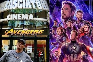Samuel L. Jackson ha visto 'Avengers: Endgame' a Trieste, la foto di Nick Fury davanti al cinema
