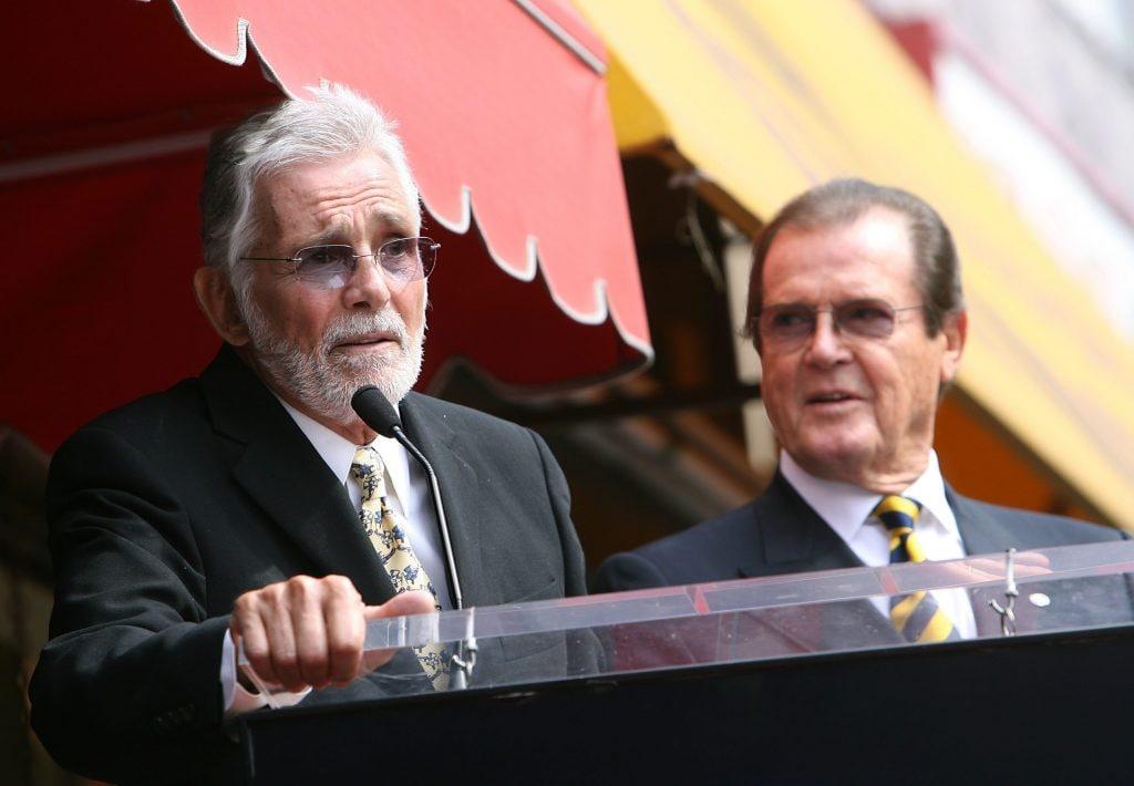 Con Roger Moore nel 2007