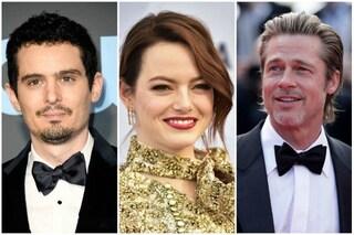 """Emma Stone di nuovo con Damien Chazelle in """"Babylon"""", al suo fianco potrebbe esserci Brad Pitt"""