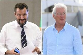 """Richard Gere sulla 'Open Arms', Matteo Salvini: """"Spero si abbronzi, i migranti sbarcateli a Ibiza"""""""