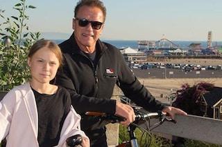 Dopo Leonardo di Caprio anche Arnold Schwarzenegger incontra Greta Thunberg