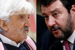 """Gigi Proietti contro Matteo Salvini: """"Si sente minacciato come Liliana Segre? Parole preoccupanti"""""""