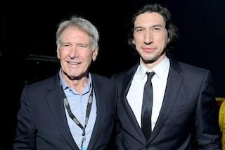 Star Wars 9: Han Solo e Kylo Ren insieme, Harrison Ford e Adam Driver sfilano sul red carpet