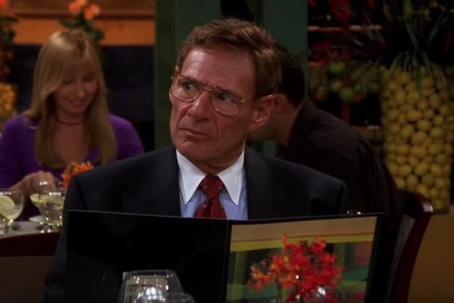 L'attore Ron Leibman in Friends