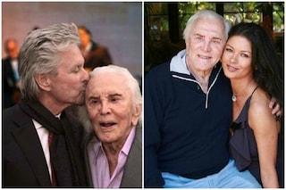 Kirk Douglas compie 103 anni: gli auguri di Michael Douglas e Catherine Zeta Jones