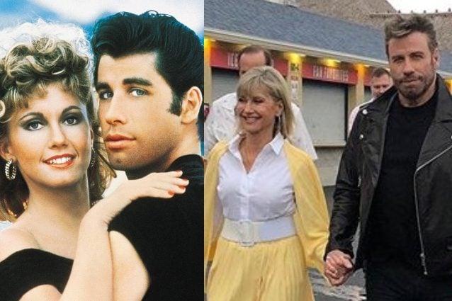 John Travolta e Olivia Newton-John nei costumi di Grease dopo 41 anni!