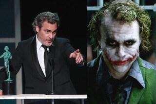 """Sag Awards 2020, Joaquin Phoenix vince per Joker e dedica il premio a Heath Ledger: """"Gli devo tutto"""""""