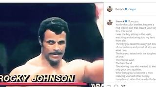 """Dwayne """"The Rock"""" Johnson dice addio a suo padre Rocky: 'Non dimenticherò i tuoi insegnamenti'"""