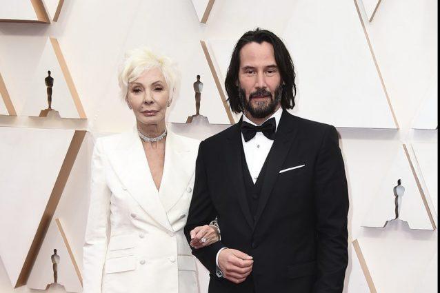 Keanu Reeves e la madre Patricia Taylor agli Oscar 2020