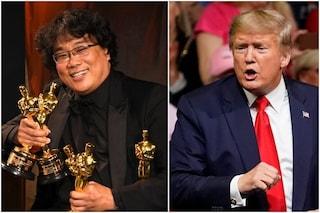 """Donald Trump contro l'Oscar a Parasite, la produzione del film: """"Il Presidente non sa leggere"""""""