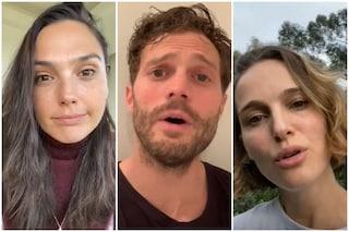 Gal Gadot, Jamie Dornan, Natalie Portman e altre star cantano Imagine contro il coronavirus
