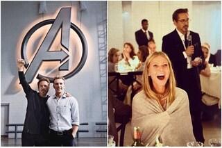 """Gli Avengers """"riuniti"""" per i 55 anni di Robert Downey Jr, volto di Iron Man"""