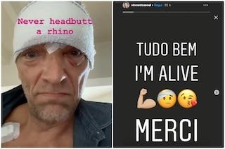 """Vincent Cassel rassicura i fan dopo l'incidente stradale: """"Tutto bene, sono vivo, grazie"""""""
