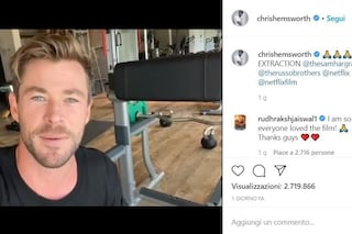 """Chris Hemsworth ringrazia i fan per il successo di Tyler Rake: """"È il film più visto al mondo"""""""