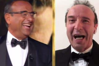 """Roberto Benigni show: """"Felice di partecipare ai Covid di Donatello, senza sognare non si va avanti"""""""