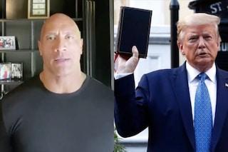 """Dwayne Johnson contro Donald Trump: """"Dove sei? Dov'è il nostro leader mentre siamo in ginocchio?"""""""