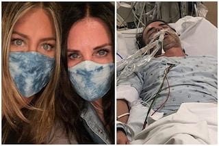 """Jennifer Aniston mostra l'amico malato di Covid, l'appello con Courteney Cox: """"Sì alla mascherina"""""""