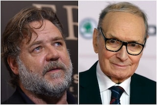 """Hollywood omaggia Morricone, il messaggio in italiano di Russell Crowe: """"Grazie Ennio"""""""