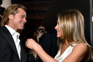 """Brad Pitt e Jennifer Aniston """"recitano"""" di nuovo insieme, la reunion in video tra i due ex"""