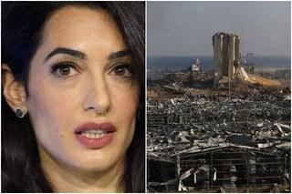 Clooney e Amal donano 100 mila dollari per Beirut dopo l'esplosione, Alamuddin è nata in Libano