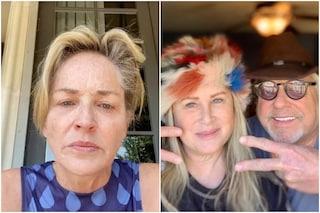 """Sharon Stone: """"Mia sorella Kelly ha il Coronavirus, colpa di chi non usa la mascherina"""""""